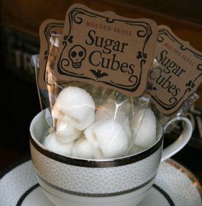 açúcar em forma de caveira