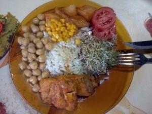prato de almoço