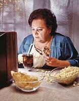 comer em frente a tv