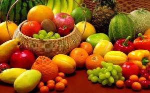 frutas, verduras e legumes da primavera