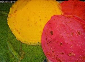 panquecas coloridas