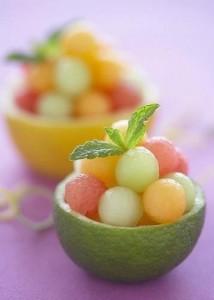 salada de frutas para crianças