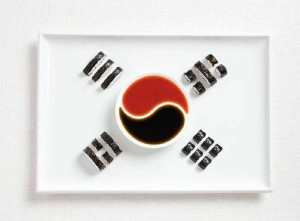 south-korea-flag-made-from-food-600x442